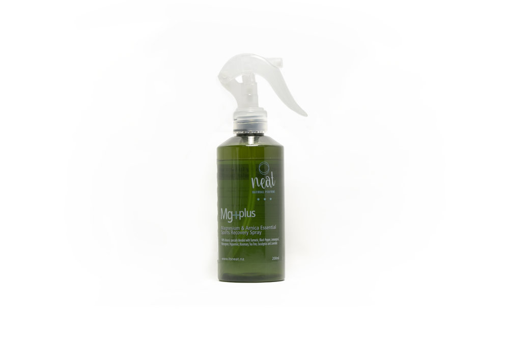 Mg+Plus: Magnesium and Arnica Essential Sports Recovery Spray  by Neat - www.itsneat.nz