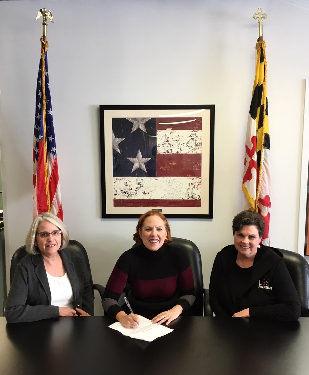 An Unstoppable Team -  Tracie Hovermale ,  Heather Bagnall , &  Pam Luby  - Candidates for Maryland House of Delegates - District 33 #GetInTheRoom