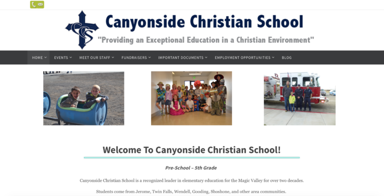 Canyonside Christian School - Staff Directory, Events Calendar, Fundraising Info & Blog