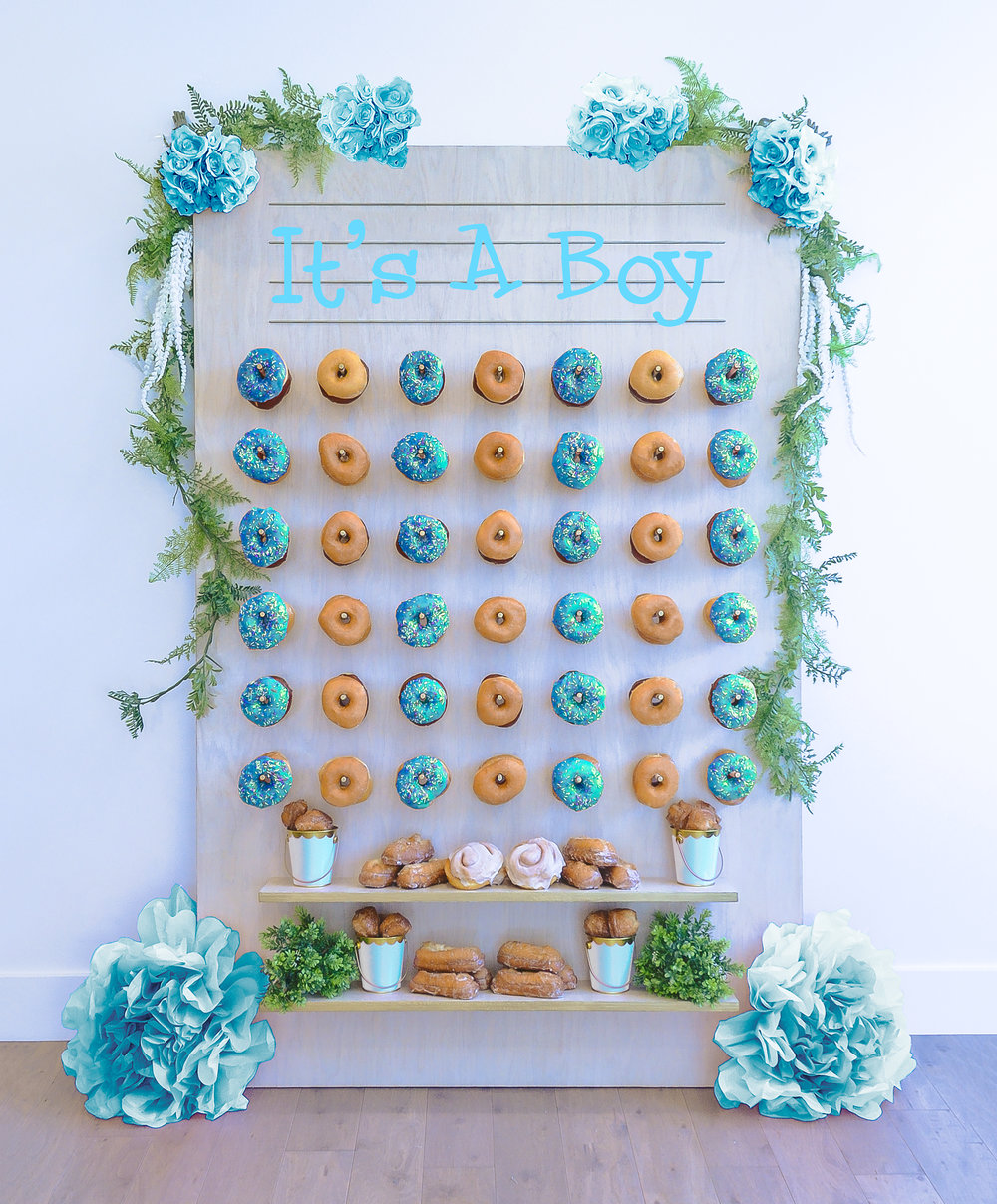 It's a Boy- Baby Shower Donut Wall || Primo's Donuts Los Angeles