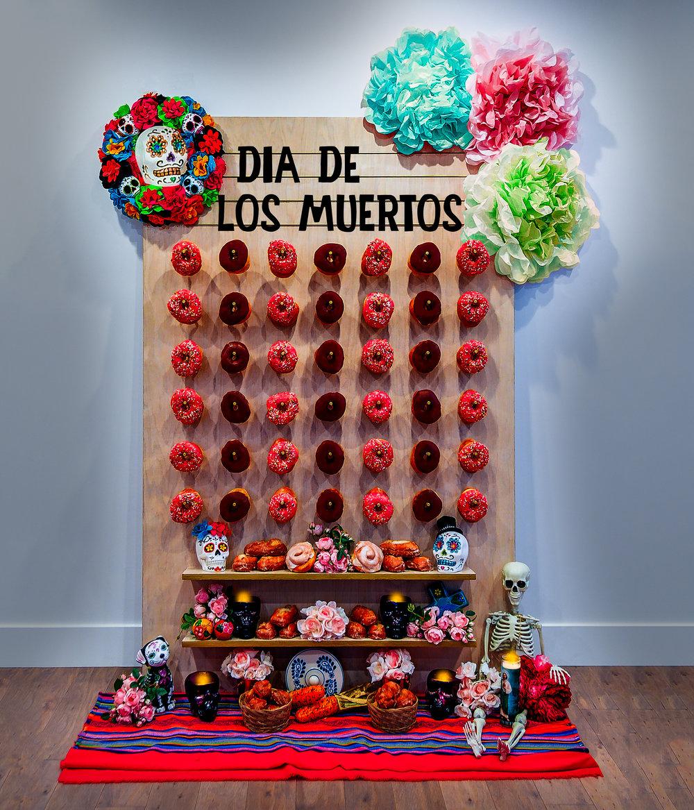 Dia de los Muertos Donut Wall || Primo's Donuts Los Angeles