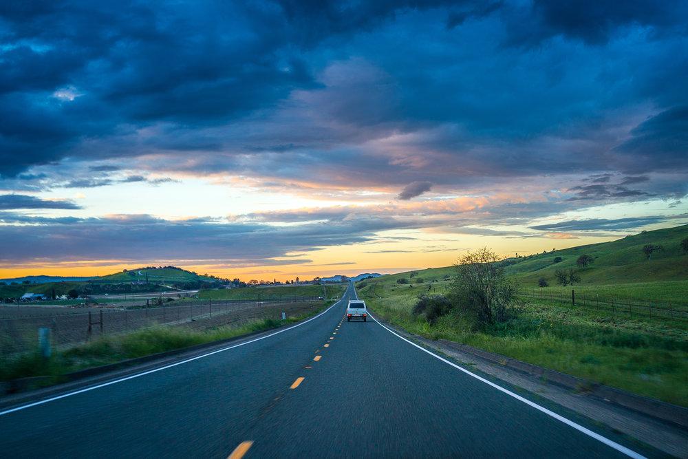 Driving to Pinnacles National Park