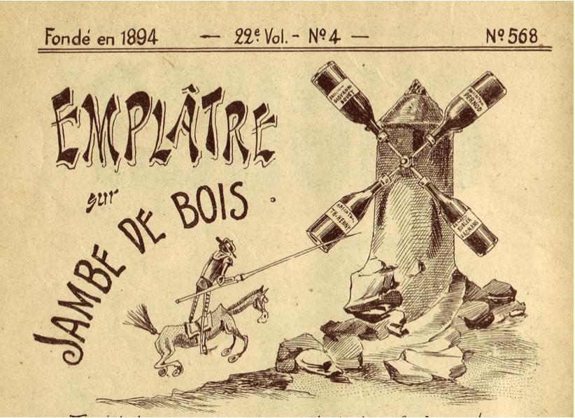 """Figure 1: Gantner, Albert. """"Emplatre sur Jambe De Bois.""""  Le Guguss,  11 Nov. 1905."""