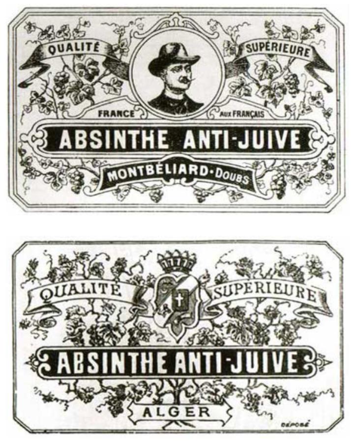 "Figure 6: ""Absinthe Anti-Juive,"" Montbeliard, 1901."