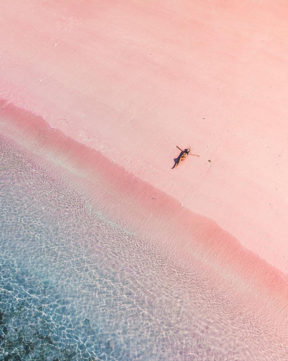 Pink Beach Flores by Roberto Volta