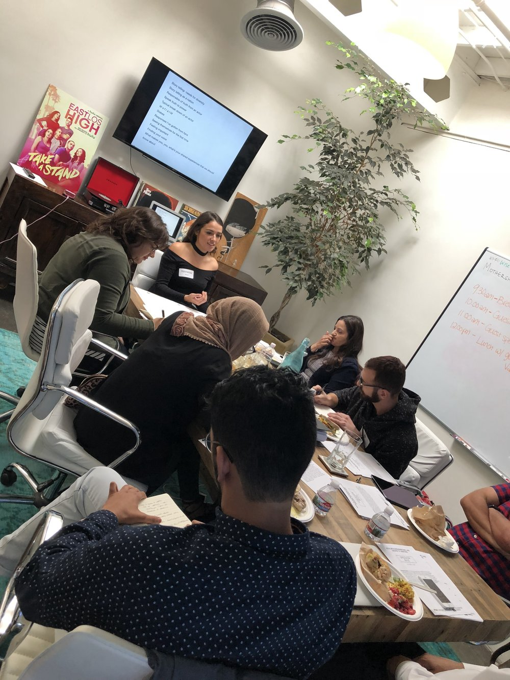 OUR SERIES CREATOR STUDYING WITH EMMY NOMINATED VANNESSA VASQUES OF EAST LOS HIGH TO DEVELOP QUEER CHARACTERS OF COLOR.