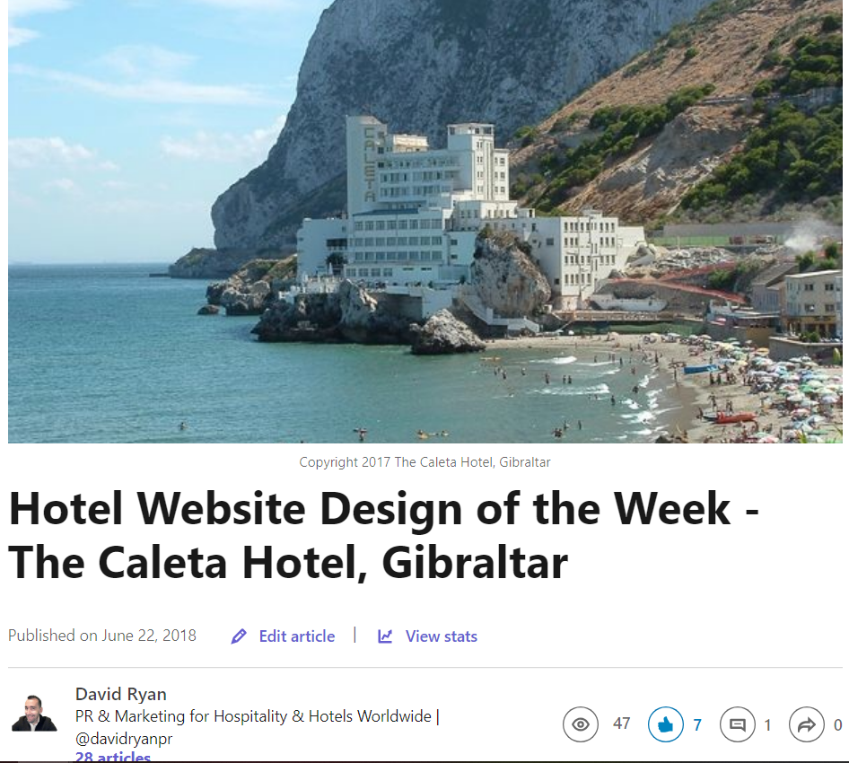 Hotel Website Design of the Week - The Caleta Hotel, Gibraltar