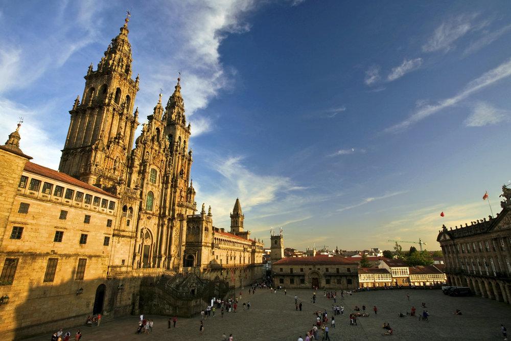 Qué ver en Galicia. Plaza del Obradoiro, Santiago de Compostela.