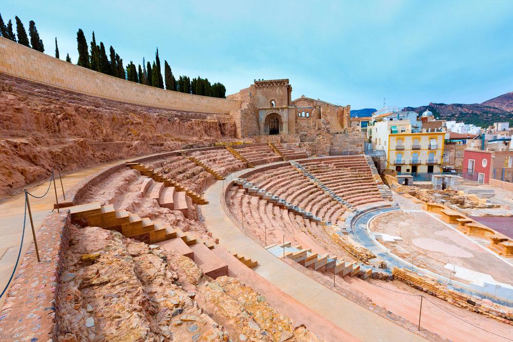 """Las """"huellas romanas"""" más bonitas de España - Teatro Romano de Cartagena"""