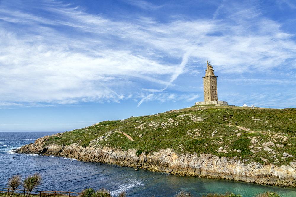 """Las """"huellas romanas"""" más bonitas de España - Torre de Hércules (A Coruña)"""