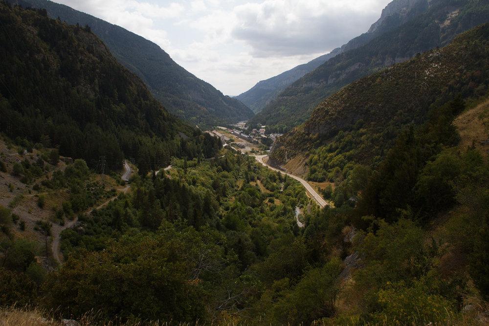 Estación Internacional de Canfranc (Huesca) - Vista del Valle de Canfranc