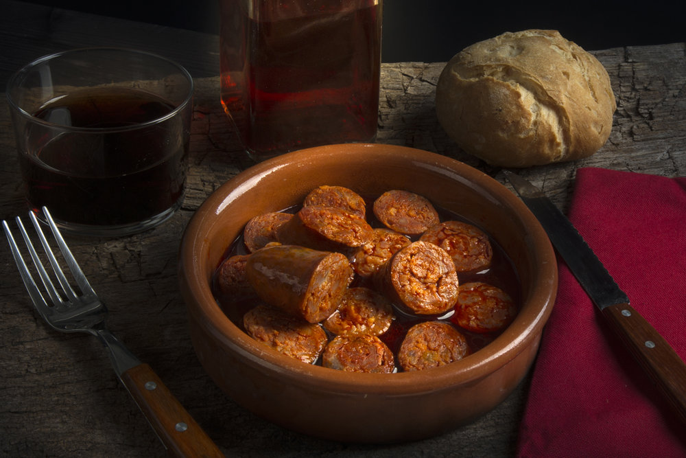 Platos típicos de Asturias - Chorizo a la Sidra / Foto: Turismo de Asturias - joaquinfanjul.com