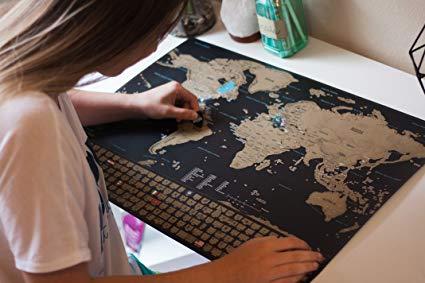 Qué regalar a un viajero - Mapa del mundo para rascar