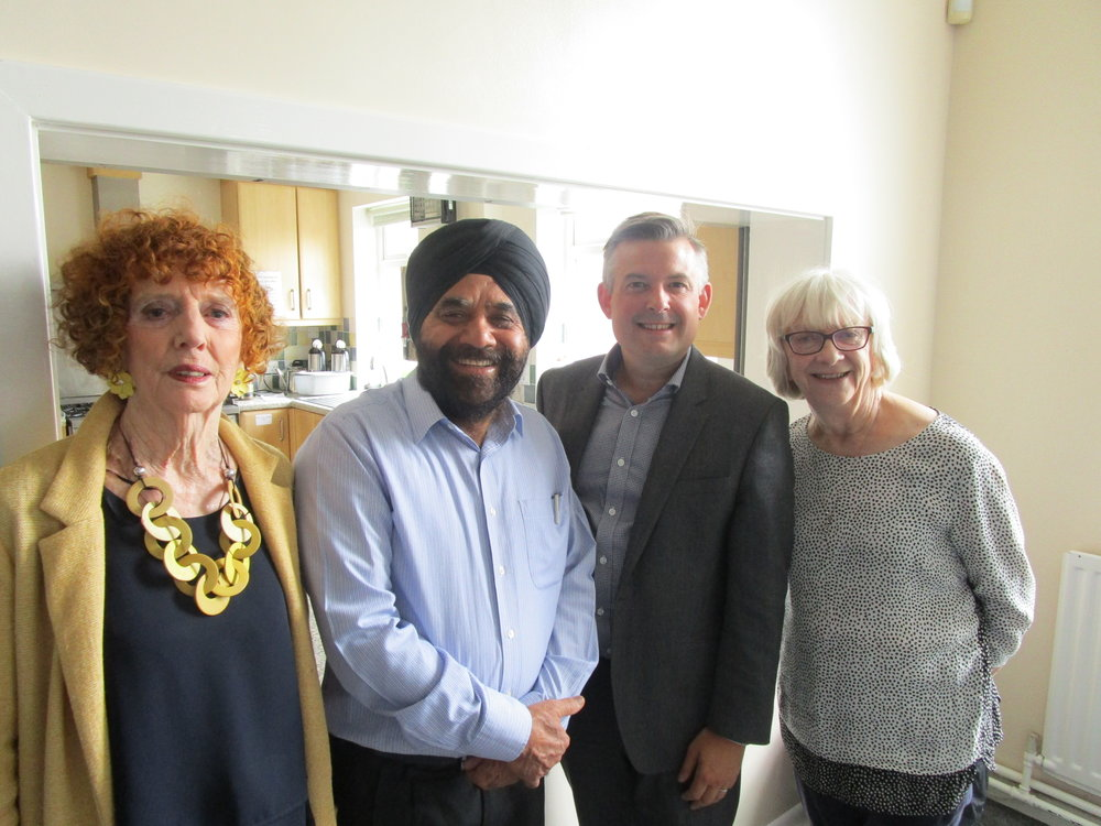 Jon Ashworth called into West Knighton Coffee Morning to meet local people and take up any issues they had - Thursday September 6 2018