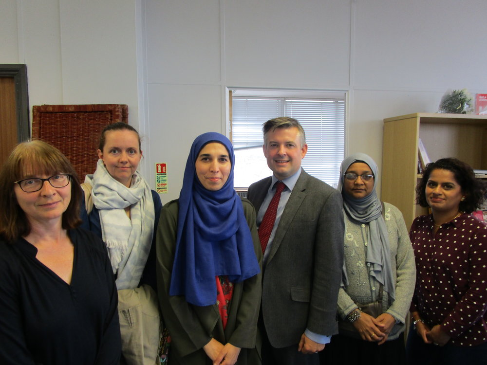 Jon met with representatives of Leicester Mammas, a breastfeeding peer support Project for families in Highfields and Evington, to discuss infant feeding - Friday 14 September 2018