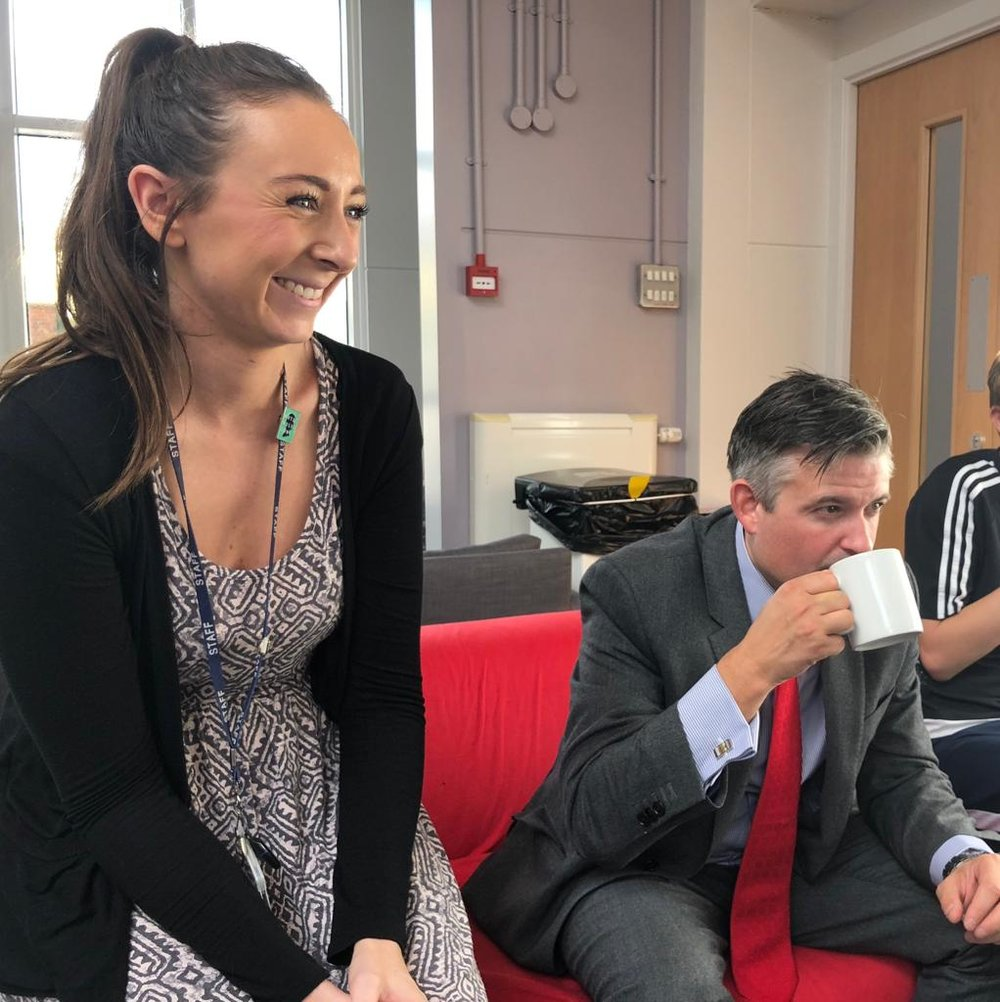 Jon visited Willow Bank Day School, part of The Children's Hospital School, to take part in their Macmillan Coffee Morning - Friday September 28 2018