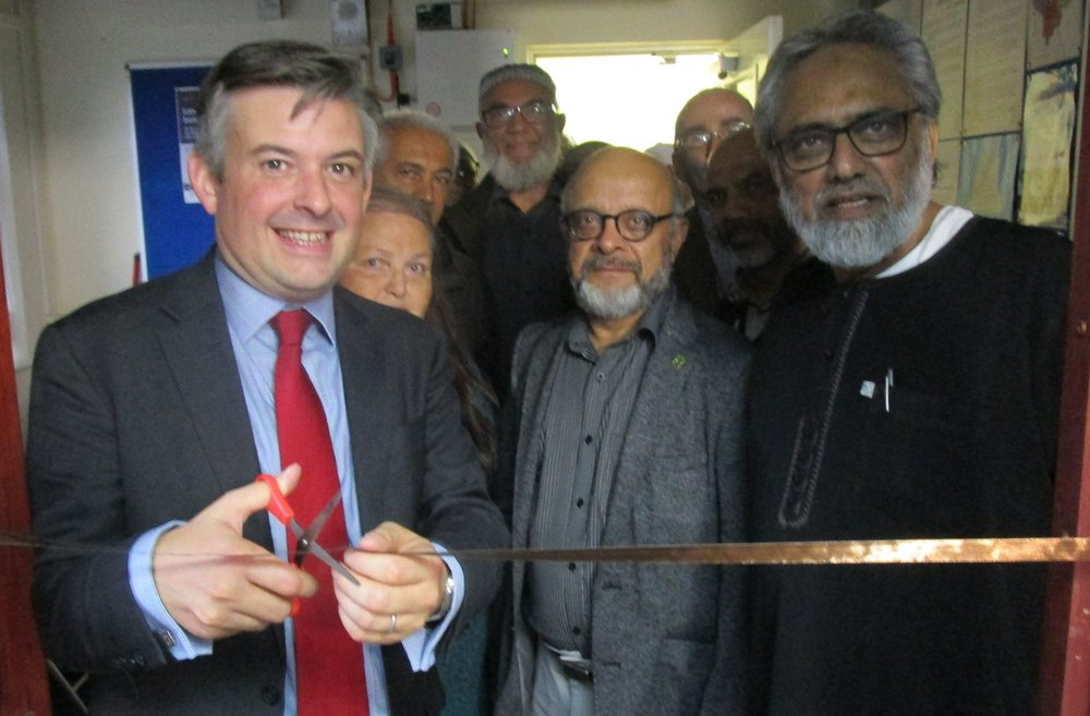 Jon officially re-opens the office of St Peters Tenants and Residents Association with Councillor Aqbany and Shauket Seedat, Chair of St Peters TARA - Friday October 12 2018