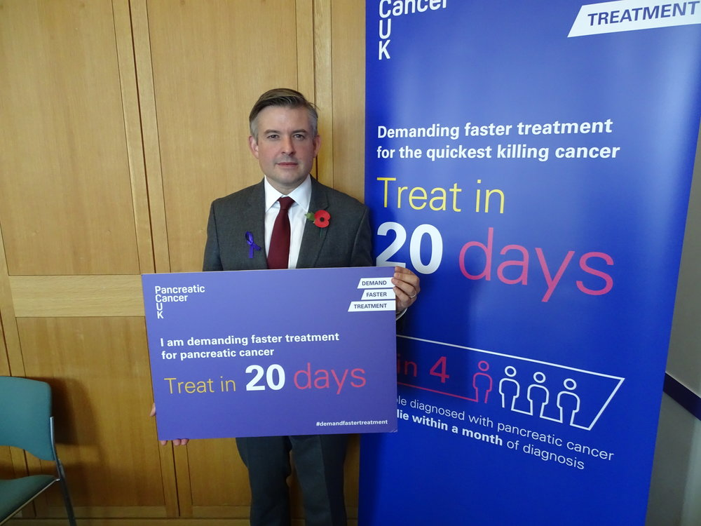Jon has pledged his support to Pancreatic Cancer UK's campaign demanding faster treatment for people with pancreatic cancer which is the quickest killing cancer - Thursday November 1 2018
