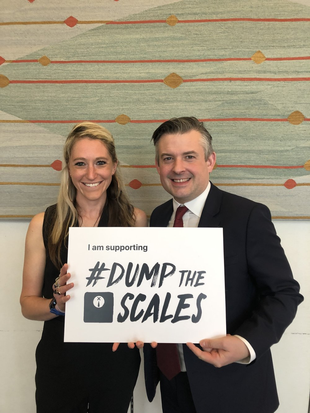 Jon backs Hope Virgo's Dump The Scales Campaign calling on the Government to implement the NICE Guidelines around the diagnosis of Eating Disorders - Tuesday April 2 2019