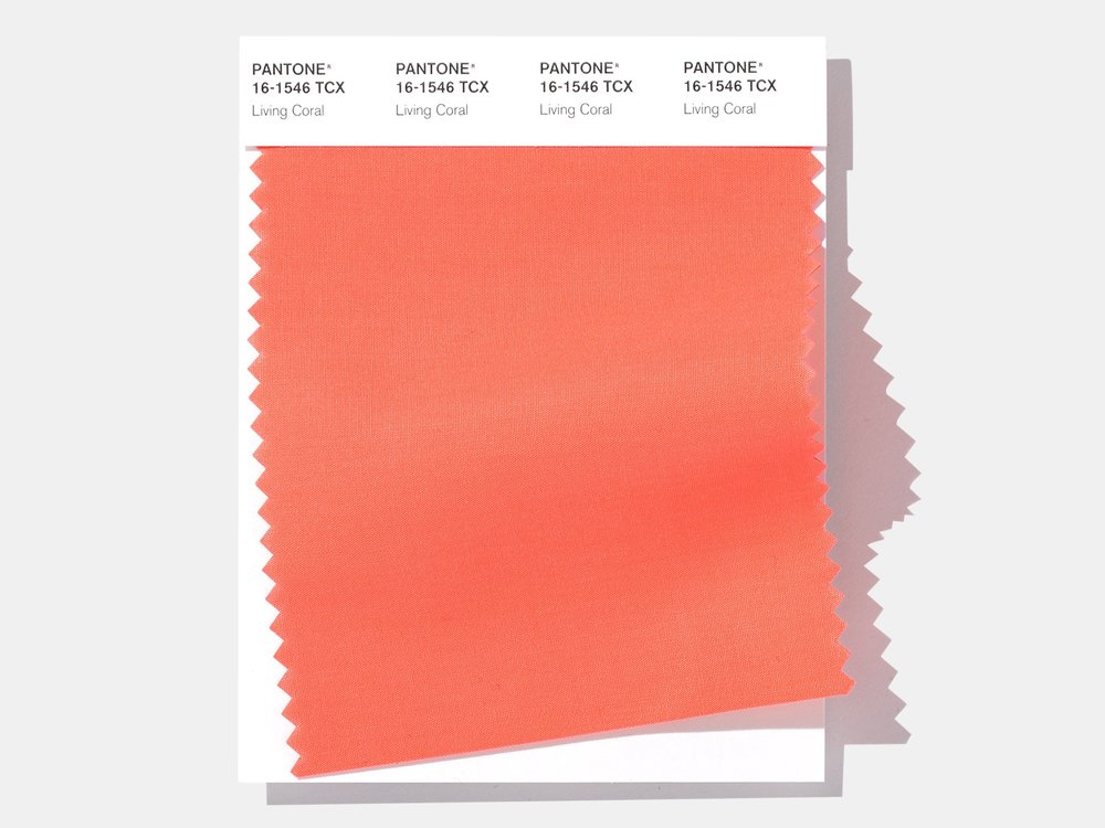 Pantone / Living Coral Cotton SMART Color Swatch Card