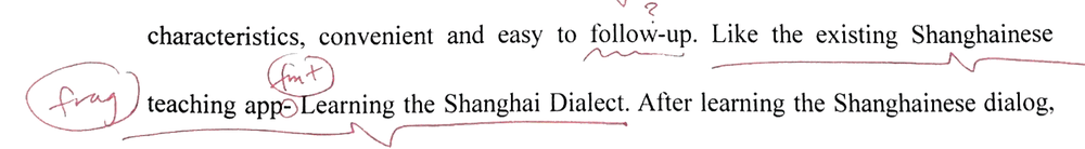 Like the existing Shanghainese teaching app, Learning the Shanghai Dialect, . . .  (missing main clause of sentence)   OR   . . . convenient and easy to follow up, like the existing Shanghainese teaching app, Learning the Shanghai Dialect.