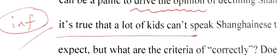 """. . . many kids cannot speak  (""""a lot"""" is very informal, and the contraction """"can't"""" makes it sound informal as well)"""