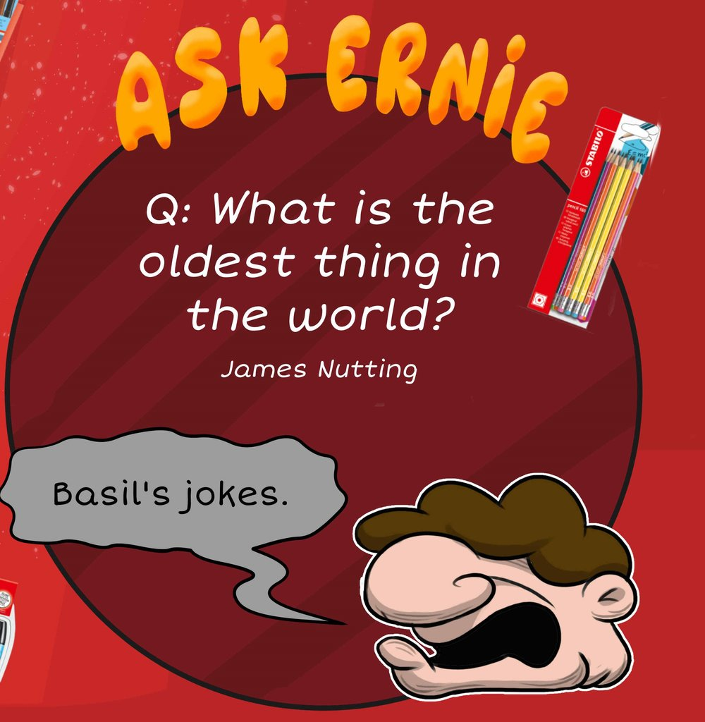 OR you can instead send in a question for Ernie himself (from Basil & Ernie) .  Send in any question you like for one of his pointless answers. Your question might get picked...!