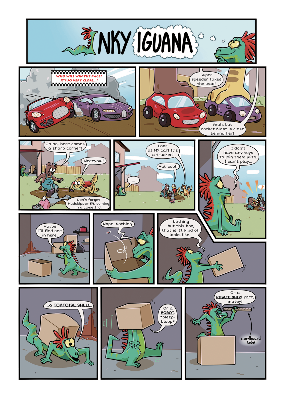 A comic and character made to help children and families of the Armed Forces with transitions.
