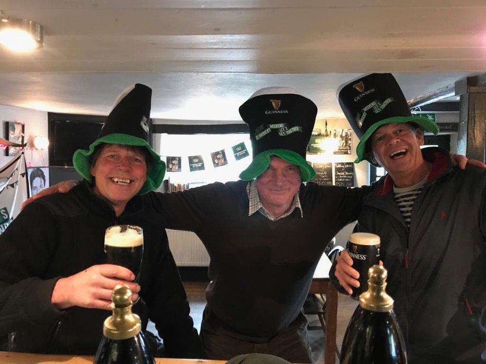 celebrating st. patrick's day @ the old smithy