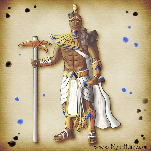 Chapter 5 is up, and it picks up right where we left off with the river festival! Link in bio.  More importantly, @therock makes an appearance in this #fantasyart of Tukamen - God of Prosperity.