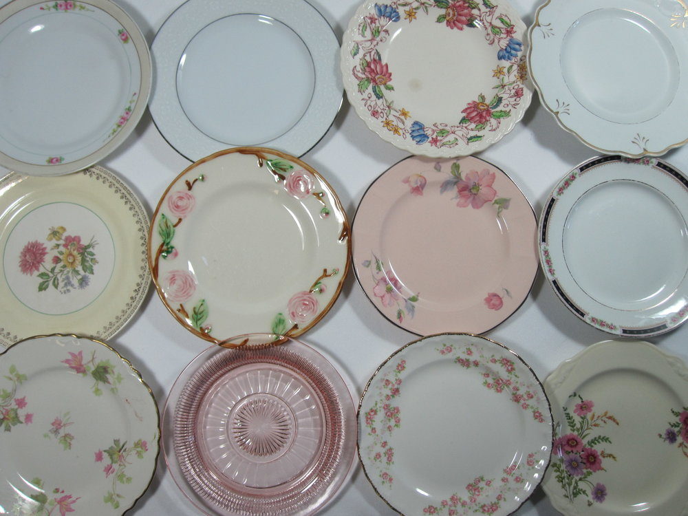 Salad Plates - Description ~ just the right size to layer with the dinner plates!Quantity ~ 290Price ~ .50