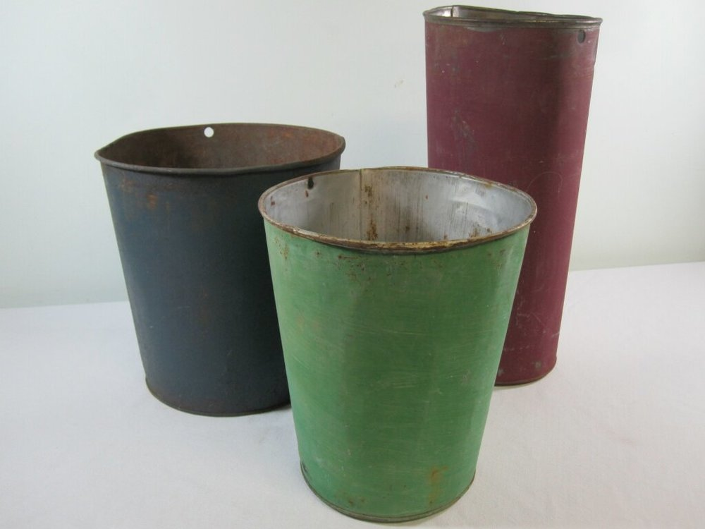 Sap Buckets - Description ~ rustic painted sap buckets in a variety of colors; large enough to hold a sign or pot of flowersQuantity ~Rental Price ~ $6
