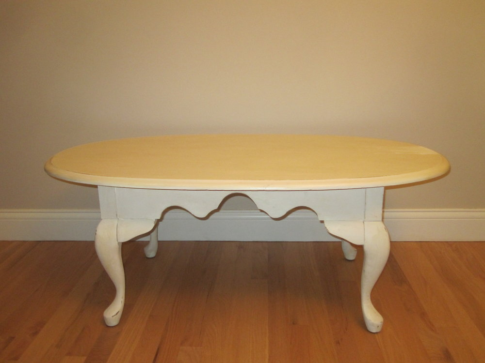 Lori Table - Description ~ low off-white rectangle tableQuantity ~ 1Rental Price ~ $15