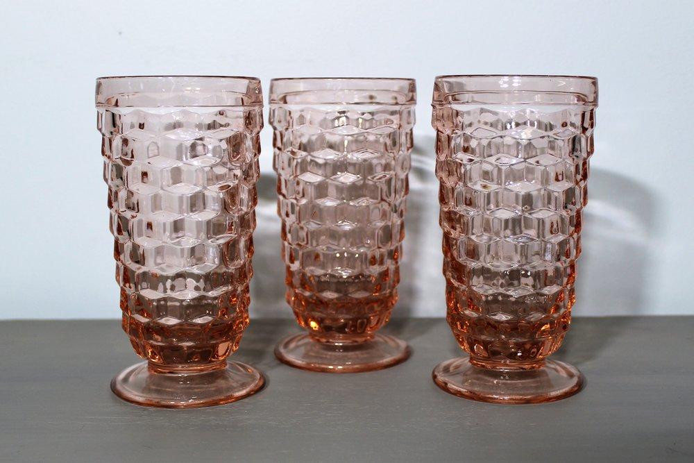 Pink Goblets - Description ~ lovely set of light pink glasswareQuantity ~ 20Price ~ $1