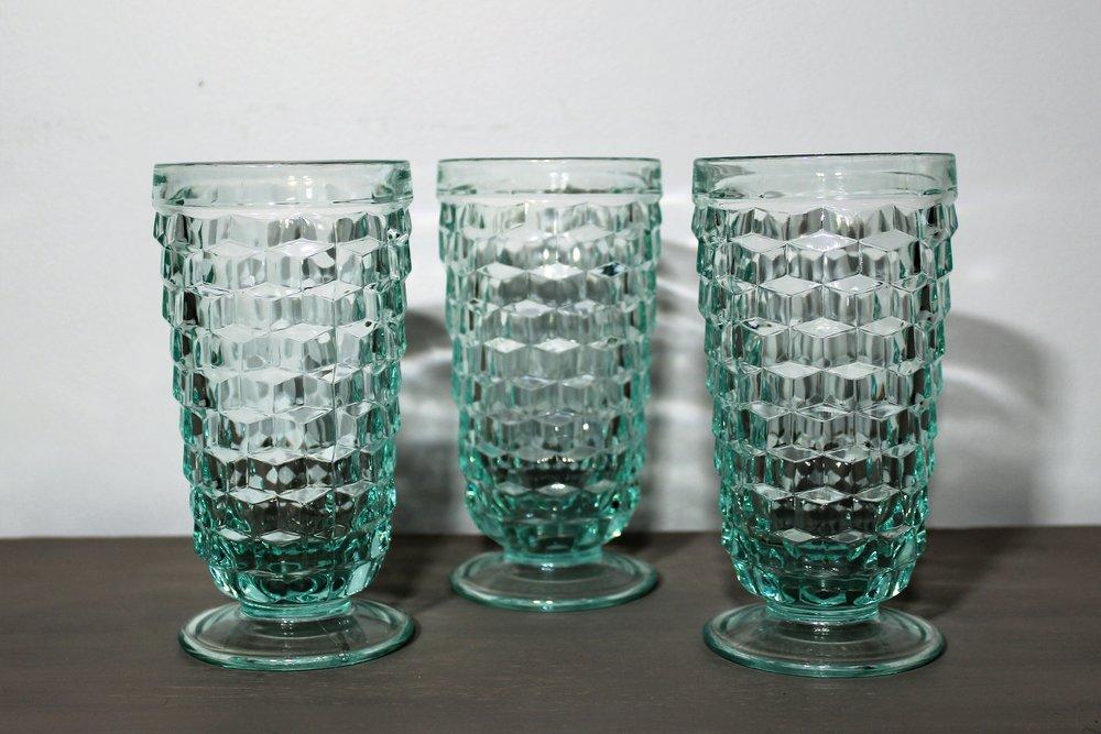 Aqua Goblets - Description ~ aqua water gobletsQuantity ~ 4Price ~ 2.00