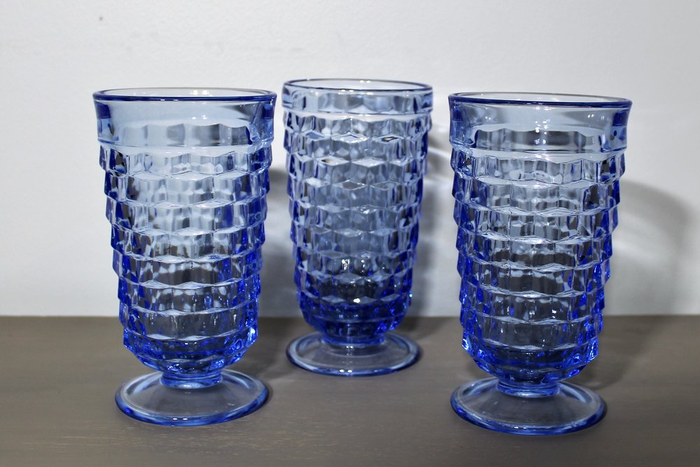 Bright Blue Goblets - Description ~ bright blue goblets coordinate well with other colorsQuantity ~ 18Price ~ $2