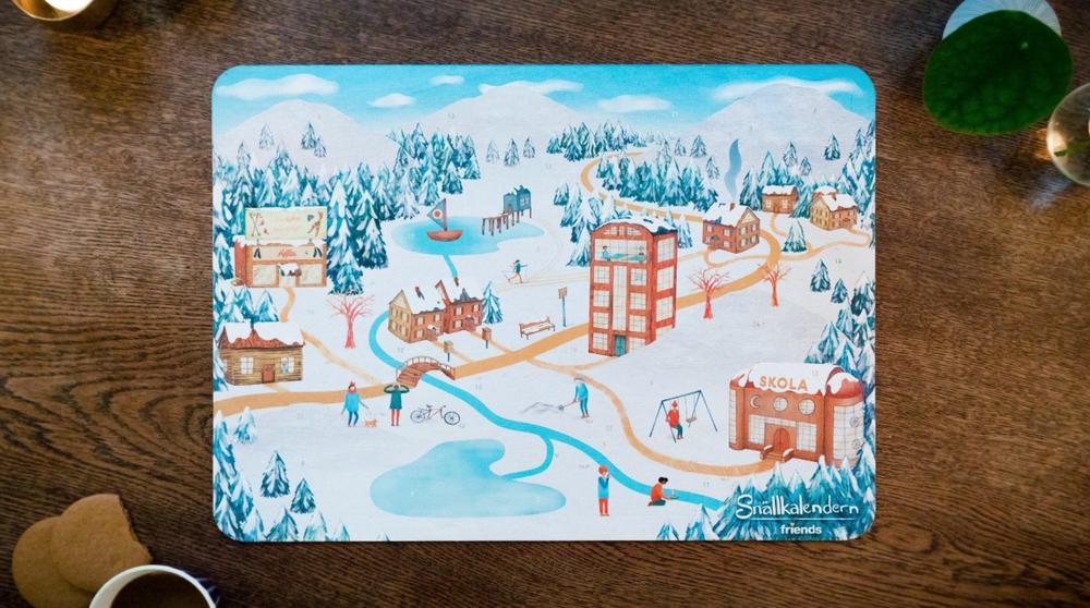 Snällkalendern - För andra året i rad blev vår viktiga insamlingsprodukt Snällkalendern en succé och vi nådde ut stort till privatpersoner, företag och skola.Tillsammans med Coop distribuerade vi totalt 57 000 sålda kalendrar. För barn och unga inom skola och förskola var Snällkalendern ett enkelt och spännande sätt att börja varje dag i december och med hjälp av kalendern fördes fördjupade samtal om hur en kan vara en bra vän.Mediegenomslaget var enormt och många snälla handlingar fick spridning med hjälp av #snällkalendern.