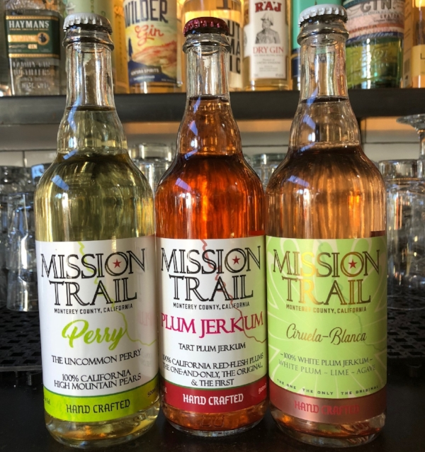 "Now available at BAR 41:  Mission-Trail  Jerkum and Perry in 500ml/17oz bottles.   A cider is made from apples, a perry is made from pears, so what is a jerkum you ask?    A jerkum is an ancient and traditional fermentation of England. Native to the county of Worcestershire, England, fruit growers would ferment their native plums. At Mission-Trail they consider any whole, unadulterated fermented stone fruit juice a jerkum.    Autumn, BAR 41's beer buyer, says ""As a diehard sour beer, lambic and cider fan, I find these to be some of the very finest examples of clean, crisp, balanced, refreshing and pure fruit flavors. I am super excited to share these with the BAR 41 community. And to umm, drink them myself! These are great for sharing with friends like a good wine, and they make a great drink for the summer. Can you say ""jerkum cocktails""?""   PLUM JERKUM $14  500ml/17oz bottle   THE ONLY 100% PLUM JERKUM AVAILABLE IN THE WORLD - NOT A CIDER! MADE WITH 14 PREMIUM, JAPANESE RED-FLESH PLUM VARIETALS. A ONE-OF-A-KIND TART JERKUM ONLY FROM MISSION-TRAIL. THIS JERKUM IS DRY, CRISP, TART AND ""FLESHY""! THIS IS PURE AND HONEST, TRULY UNIQUE. DOES NOT CONTAIN ANY APPLE. 6.5% ABV    PERRY $16  500ml/17oz bottle   FINALLY, A 100% REAL PERRY! WE USE ONLY MOUNTAIN BARTLETT PEARS TO CREATE THIS ONE-OF-A-KIND TRUE PERRY. THE TREES STRUGGLE IN THE HIGH MOUNTAINS AND VOLCANIC SOILS PRODUCING A MORE COMPLEX, NUANCED, AND DENSE FRUIT AND FLAVOR. OUR EXTRA-DRY PERRY REMAINS ROUND, INCREDIBLY BALANCED, AND VERY CLEAN. 6.0% ABV    CIRUELA BLANCA $18  500ml/17oz bottle   A FUN AND LIGHT JERKUM MADE FROM 100% WHITE PLUMS AND WITH FRESH LIME AND AGAVE, GIVING THIS AN UNMISTAKABLE WONDERFUL CITRUS - FRUIT BALANCE. PLUOT ACID AND CITRUS HARMONIZE BEAUTIFULLY WITH THE DASH OF AGAVE NECTAR TO SATIATE ANY PALATE. 6.7% ABV    A little about Mission-Trail:    ""... Inspired by the region's abundance of fruit and excited about the prospect of doing things differently than everyone else, Monte and Victor turned their visions to jerkum, cider and perry making, creating products that could bear no name other than, ""Mission-Trail"".  The Mission Trail Cider Company's homestead is a sprawling ranch nestled in the foothills of the Santa Lucia Mountains just over the Coast Range from Big Sur. Each product is made once per year with fruit pressed directly from the orchard. Mission-Trail never uses concentrate, flavoring, artificial ingredients, or coloring in its wine, and the Jones' brothers are proud to craft honest and unique products that customers can find nowhere else.  Mission-Trail has one simple goal- create innovative, and artisanal jerkums, perrys, and ciders, while using traditional wine making practices."""