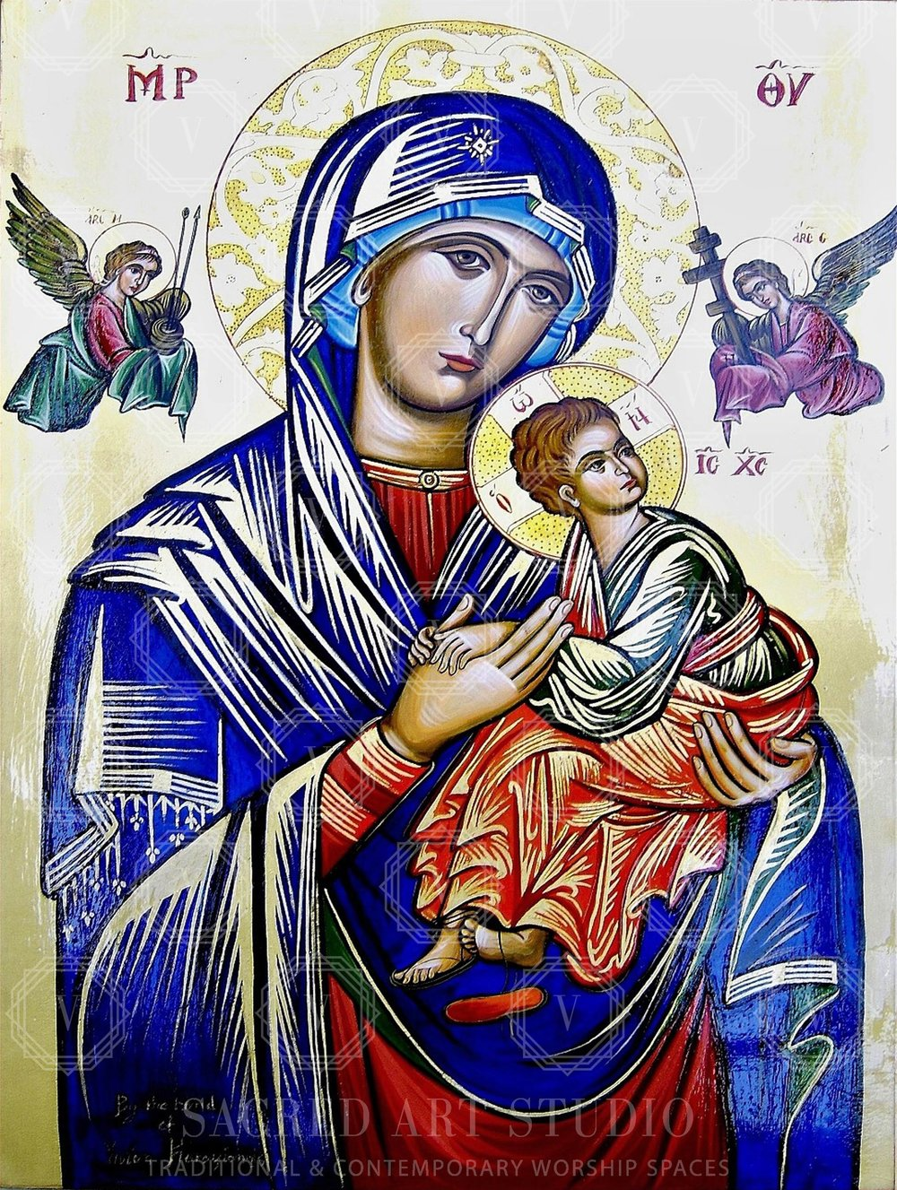 """Our Lady of Perpetual Help"" Commissioned by St. Teresa's Catholic Church and private collector"