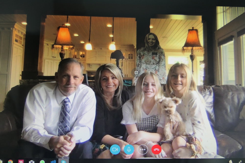 Skyping My Cute Family!!