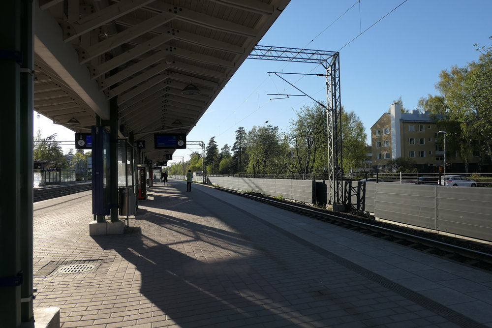 Train Stop in Helsinki