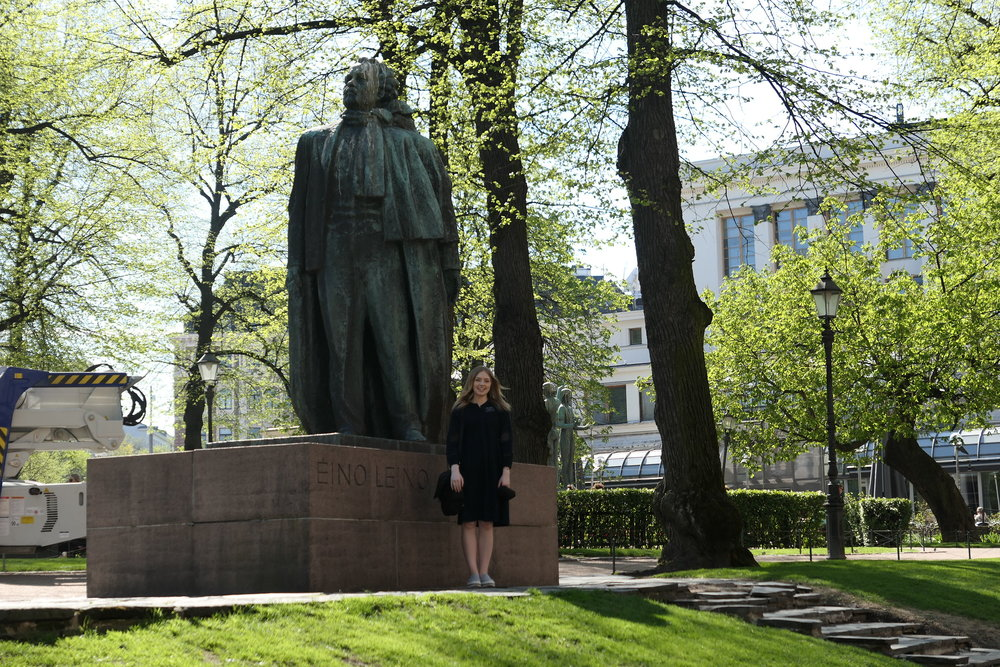 cool statue, Eino Leino...a famous finnish poet and writer