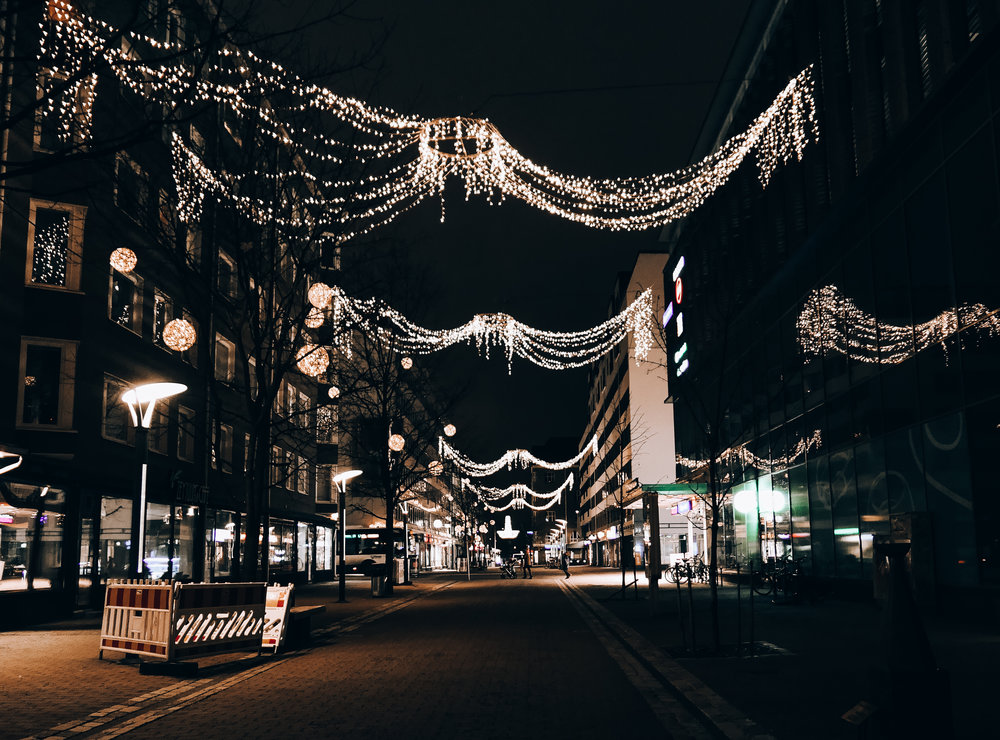 Tampere has Lots of lights hanging everywhere!! It's soo pretty!!