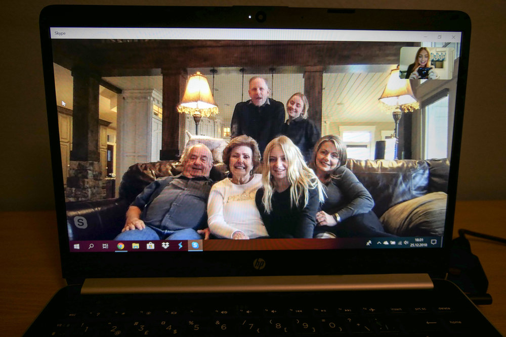 skyping with my family on christmas morning was amazing!