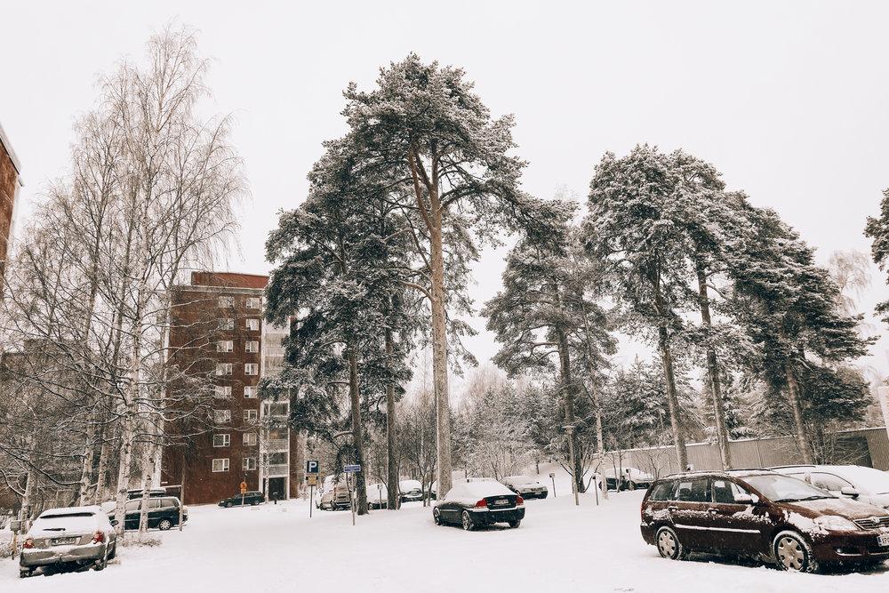 snowy Oulu,Finland