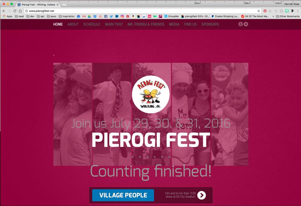 The original Pierogi Fest® website.