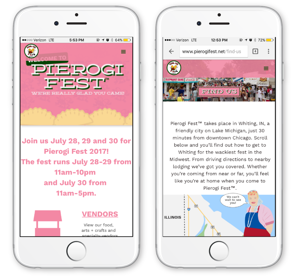 The first redesigned Pierogi Fest® website was designed on Webflow.