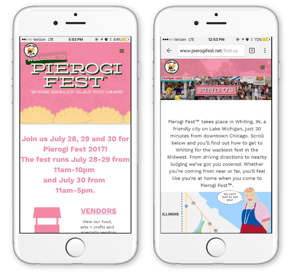 The first redesigned Pierogi Fest® website was designed on Webflow.