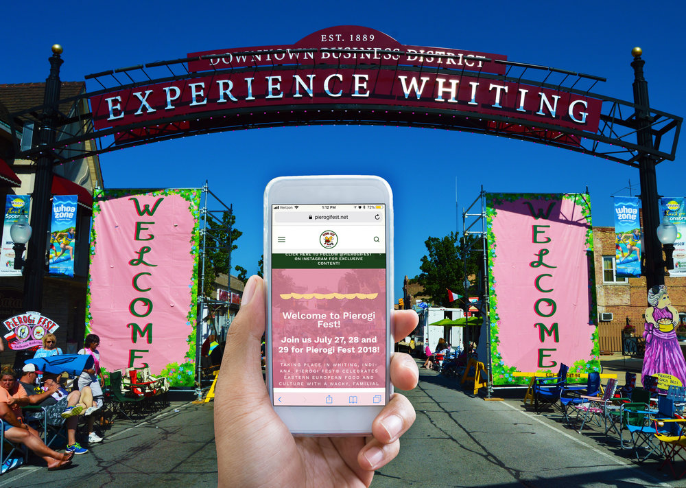 The final updated Pierogi Fest® website, built and managed on Squarespace.