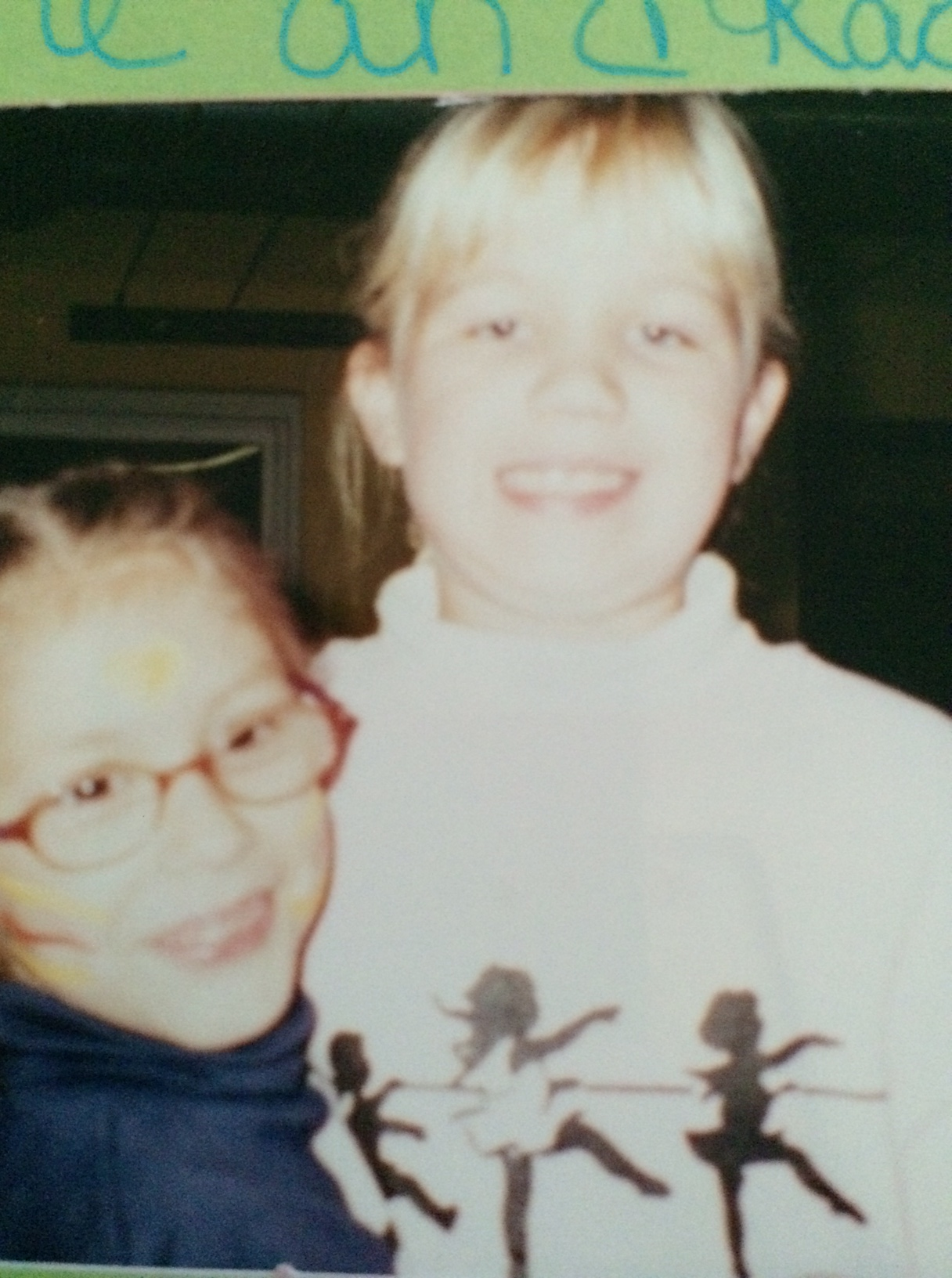 Here's my grade school best friend Rachel and I, around second or third grade.